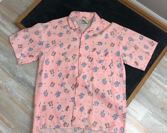 1a16892eb Vintage Men's Surf Gear Button Up Hawaiian Shirt, Vintage Men's Beach Shirt,  Vintage Skater Shirt