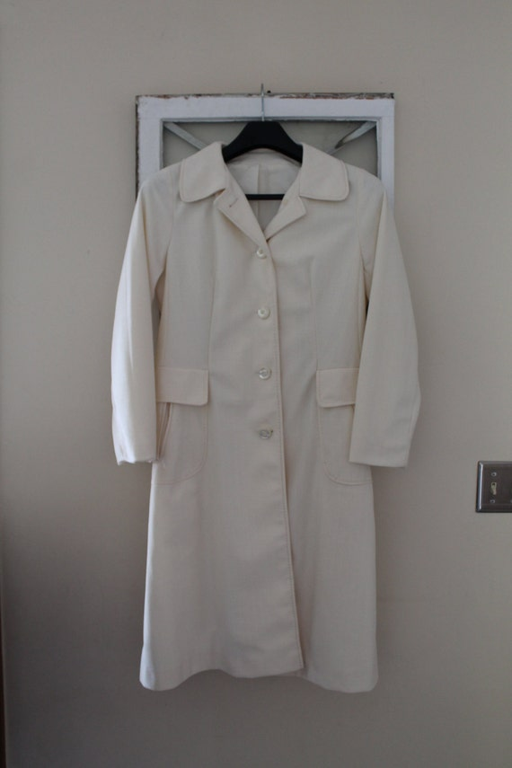 Vintage Woman's Dress Coat, Outer Banks By Jerold, Princess Cut Raincoat by Etsy
