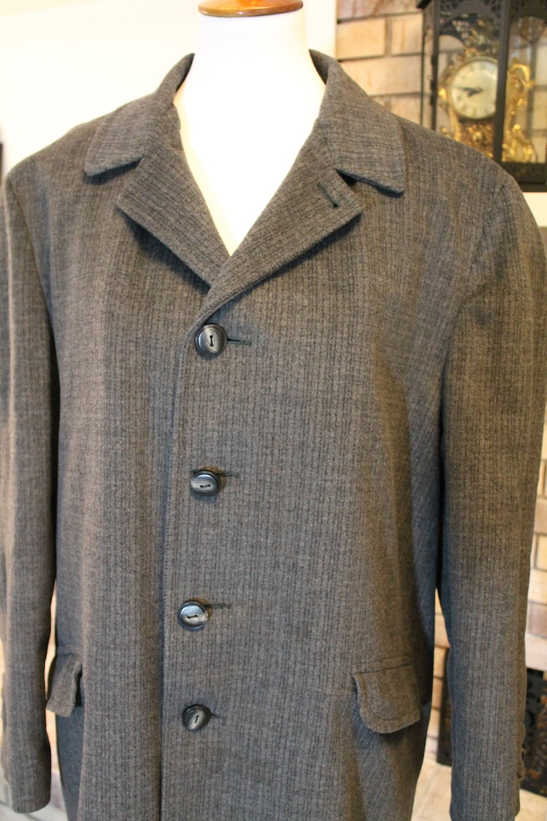 Men/'s Winter Coat Vintage Men/'s Robert Hall Wool Jacket Men/'s Dress Coat