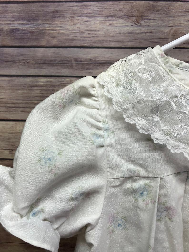 Size 6X Vintage Girls Sears Flowered Dress