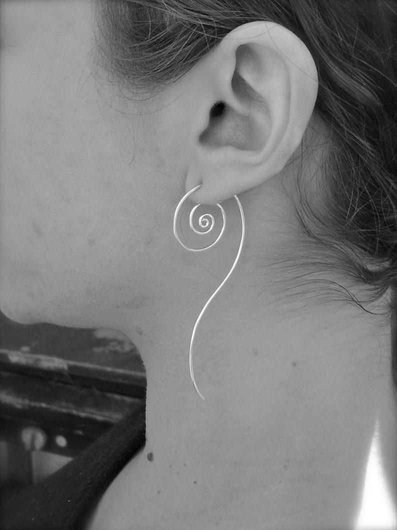 Unfurl Spiral Earrings in Recycled Sterling Silver
