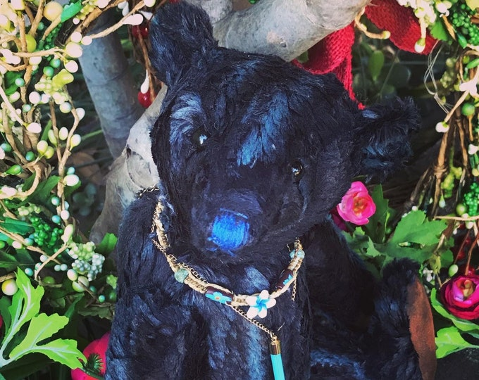 RESERVED ***Midnight Sky - 14 inch vintage chenille