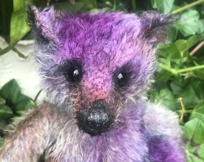 Violet - 12 inch mohair bear
