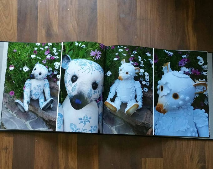Bears on Stairs - a large super glossy 30 page book of a selection of my collectable bears (14 inch by 11 inch)