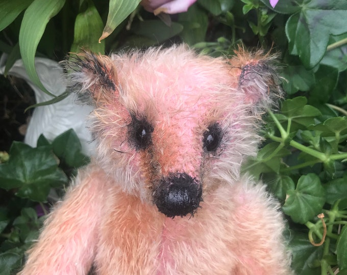 Apricot - 12 inch mohair bear