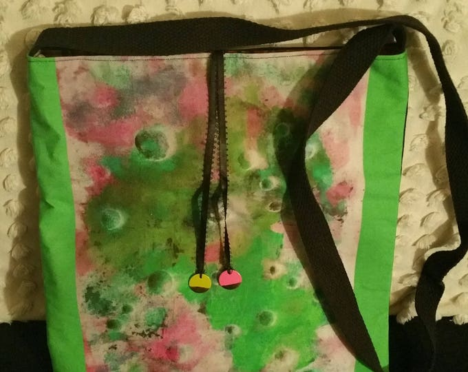 Printed cotton bag - 'Forest/light' design  from my Continuum I painting