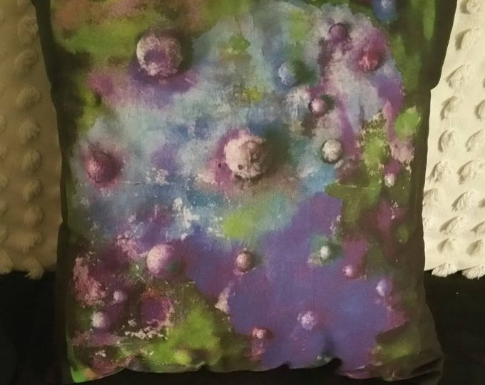 Printed cotton cushion - 'Ocean/dark' design - from my Continuum I painting