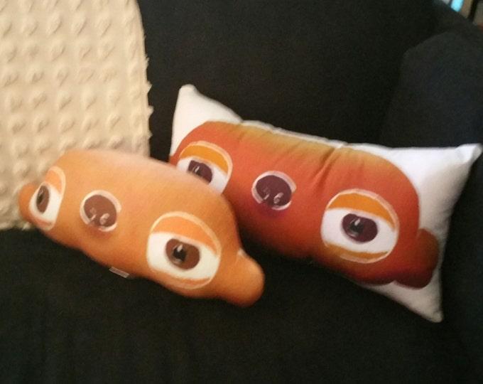 Gooba the alien bear art doll head / cushion - part of Billyboy Burbank's Cosmic Cuisine cookbook & animated series