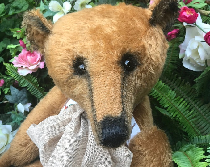 RESERVED *** Wilderness - 30 inch cinnamon mohair bear