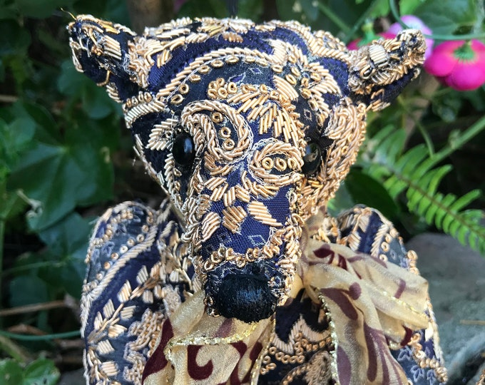 RESERVED ***Majesty - 12 inch vintage beaded bear