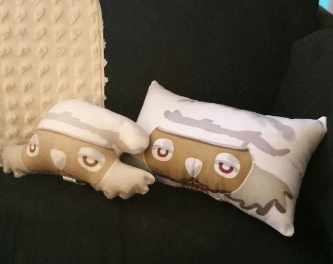 Billyboy Burbank the vegan chef art doll head/ cushion - part of Billyboy Burbank's Cosmic Cuisine cookbook & animated series