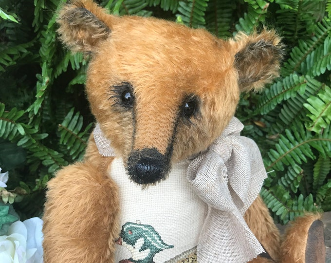 RESERVED ***Woodland -20 inch cinnamon mohair bear