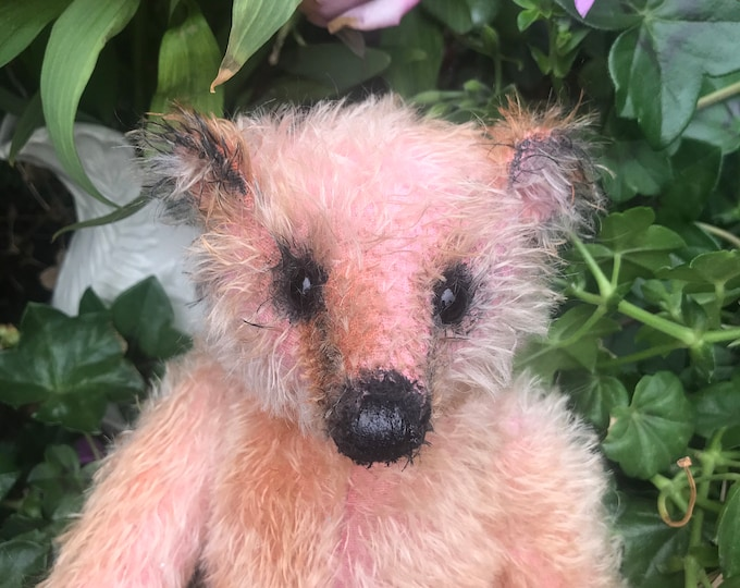 RESERVED ***Apricot - 12 inch mohair bear