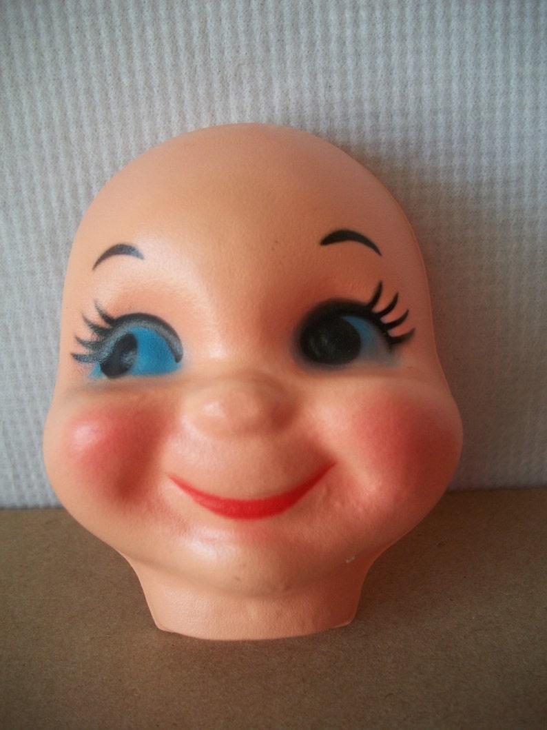 Vintage 3 Inch Plastic Doll Face Mask **