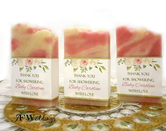 Sunflower Soap Favors 50 Soap Favors Baby Shower Favor Bridal Shower Favor Handmade Soap Vegan Wedding Soap Favors