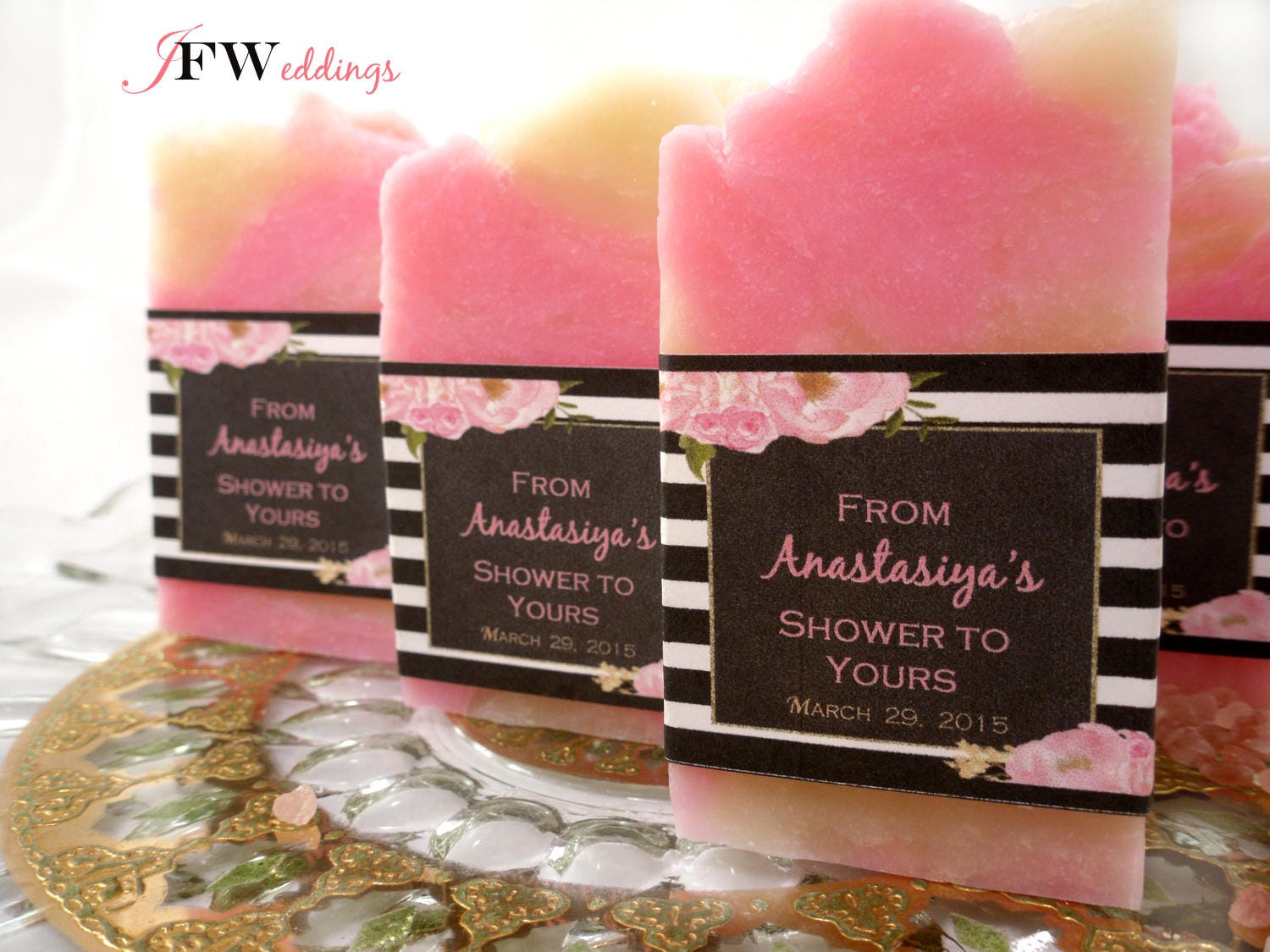 50 Soap Favors Bridal Shower Soap Favor Wedding Bridal