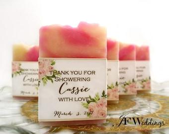 50 Bridal Shower Favors - Soap Favors - Bridal Shower Soap Favors - Mini Soap Favors - Personalized Soap - Party Favors