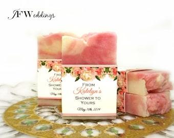 JOY.FILLED.WEDDINGS - Bridal Shower Soap Favors, Soap Favors for Weddings, Shower Soap Favors, Handmade Soap Favors, Baby Shower Favor,