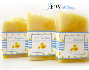 20 Cute Ducky Baby Shower Favors,  Baby Shower Soap Favors, Baby Girl, Baby Boy,  Ducky Themed Shower, Yellow Ducky