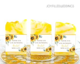Handmade Soap Favors for Weddings, Bridal Shower Soap Favors, Wedding Favors, Bridal Shower Gifts , Baby Shower Favors, Sunflower