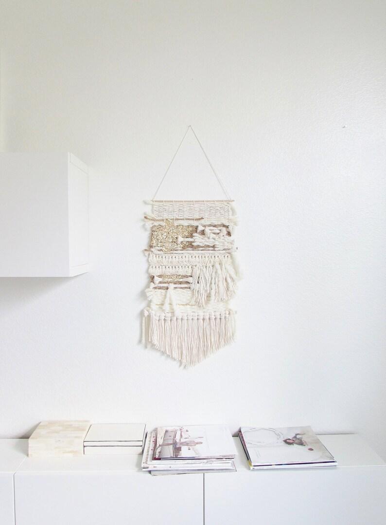 Weaving wall hanging/ handmade wall hanging art image 0