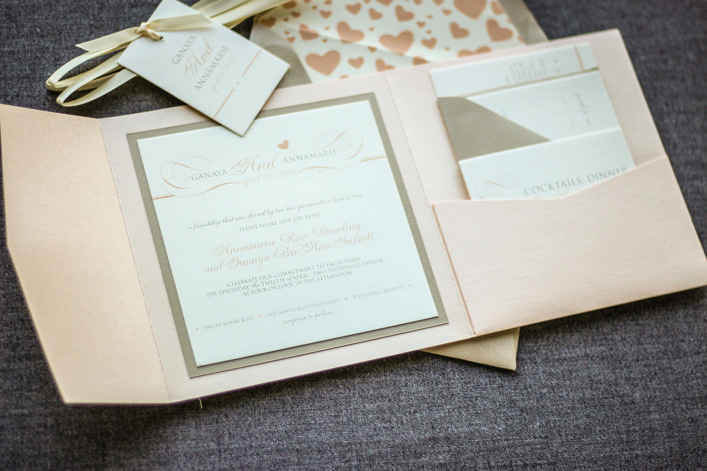 Blush Invitation Suite Pink Invitation Suite Blush Wedding | Etsy