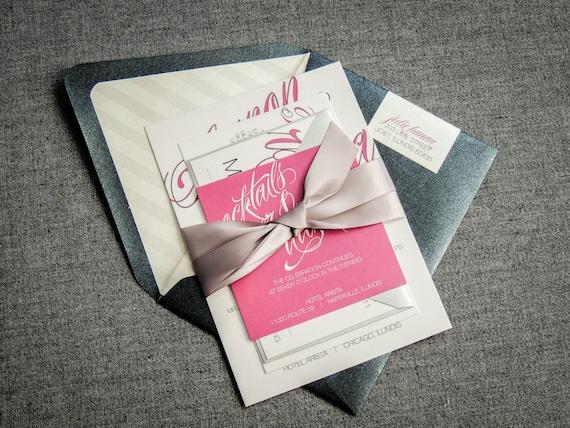 Pink And Black Wedding Invitations: Sweet 16 Invitations Pink And Black Wedding Invitations
