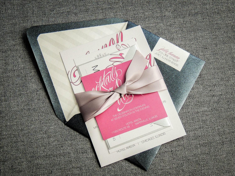 Black Pink Wedding Invitations: Sweet 16 Invitations Pink And Black Wedding Invitations