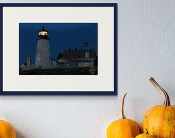 Digital Print, Wall Art, Book of Maine Project, Dawn's Early Light by Deborah Chapin