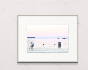 Digital Printable Download, Book of Maine Project, Pemaquid Harbor at Dawn by Deborah Chapin