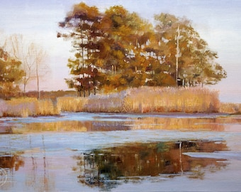Puzzles for Adults, Landscape painting,  Nature Puzzles, Indian Summer by Deborah Chapin