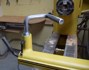 """Double 9 D         1"""" Diameter Wood Lathe Tool Rest            A reach beyond the status que          Fits  14"""" and larger swing wood lathes"""