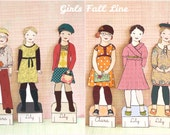 Fall 2010 Paper Doll Outfits Clothing - PDF - Instant Download Back to School Paperdoll Clip Art clipart printable