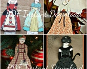 A Year of Gowns - 2012 Outfit of the Month - Paper Doll Outfits Clothing - PDF - Clip Art, Queen of Hearts, Wedding Dress, Halloween