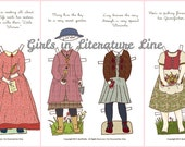 Girls in Literature Paper Doll Outfits Clothes PDF - Anne of Green Gables, Heidi, Little Women, Lucy of The Lion The Witch and The Wardrobe