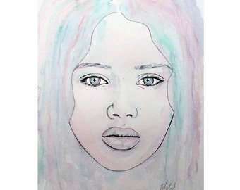 Of Colour And Beauty - Blue - Beauty Art - By Mixed Media Artist Malinda Prud'homme