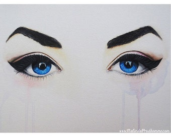 Seeing Into The Soul - Seductive - Eye Art  - ART PRINT - 8 x 10 - By Mixed Media Artist Malinda Prudhomme