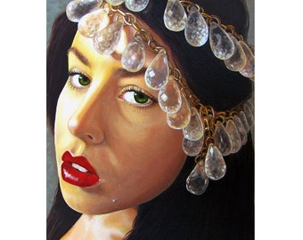 Winter Beauty - Beauty Art - ART PRINT - 8 x 10 - By Mixed Media Artist Malinda Prudhomme
