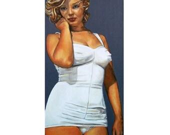 Curvy Beauties - Marilyn Monroe - ART PRINT - 8 x 10 - By Mixed Media Artist Malinda Prudhomme