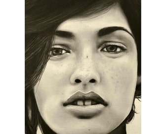 A Mark Of Beauty - Megan Ewing - ART PRINT - 8 x 10 - By Mixed Media Artist Malinda Prudhomme