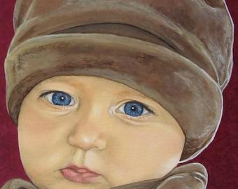 Custom Baby Portrait - Child Paintings - By Toronto Portrait Artist Malinda Prud'homme