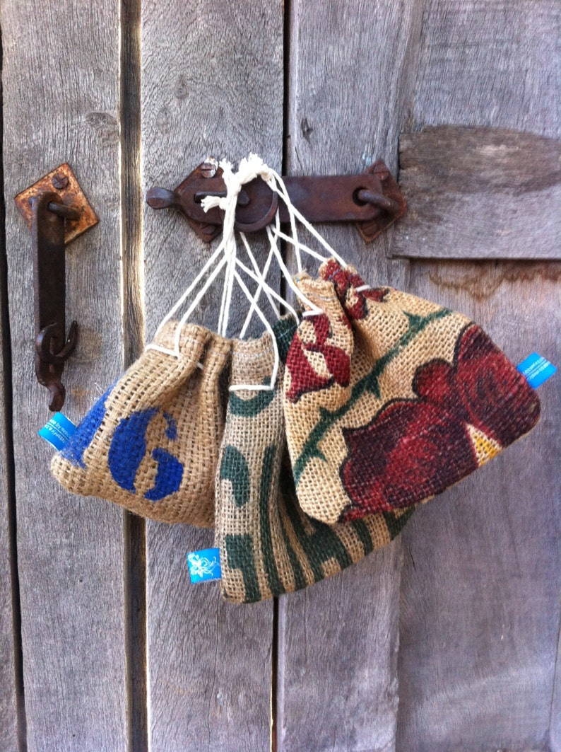 burlap pouch with foe hairties image 0