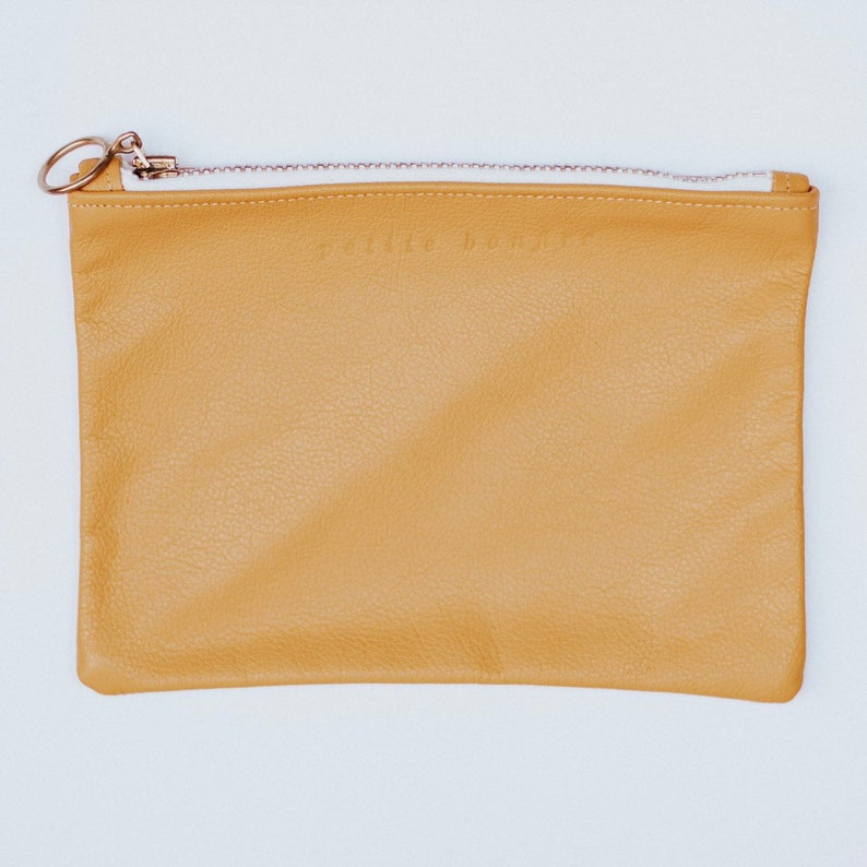Mustard yellow pouch image 0