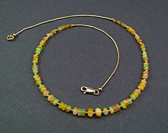 Ethiopian Welo Opal Necklace - N944