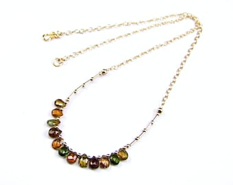 Tourmaline 14k Gold Fill Necklace - N967