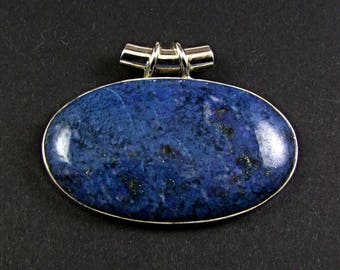 Azurite Sterling Silver Pendant - N915