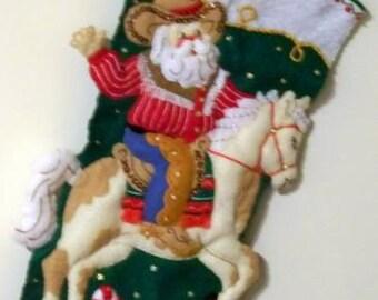 Cowboy santa etsy