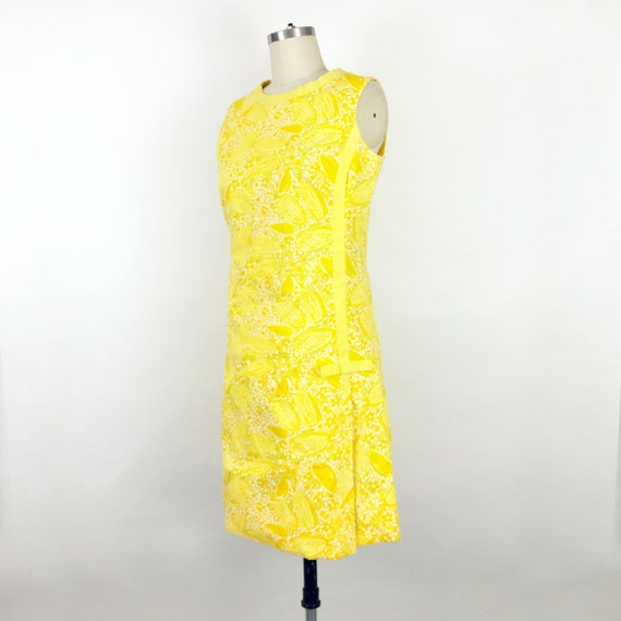 1960's Yellow Butterfly Print Lilly Pulitzer Dres… - image 2