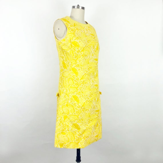 1960's Yellow Butterfly Print Lilly Pulitzer Dres… - image 4