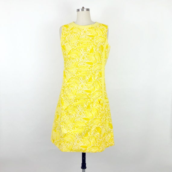 1960's Yellow Butterfly Print Lilly Pulitzer Dres… - image 1